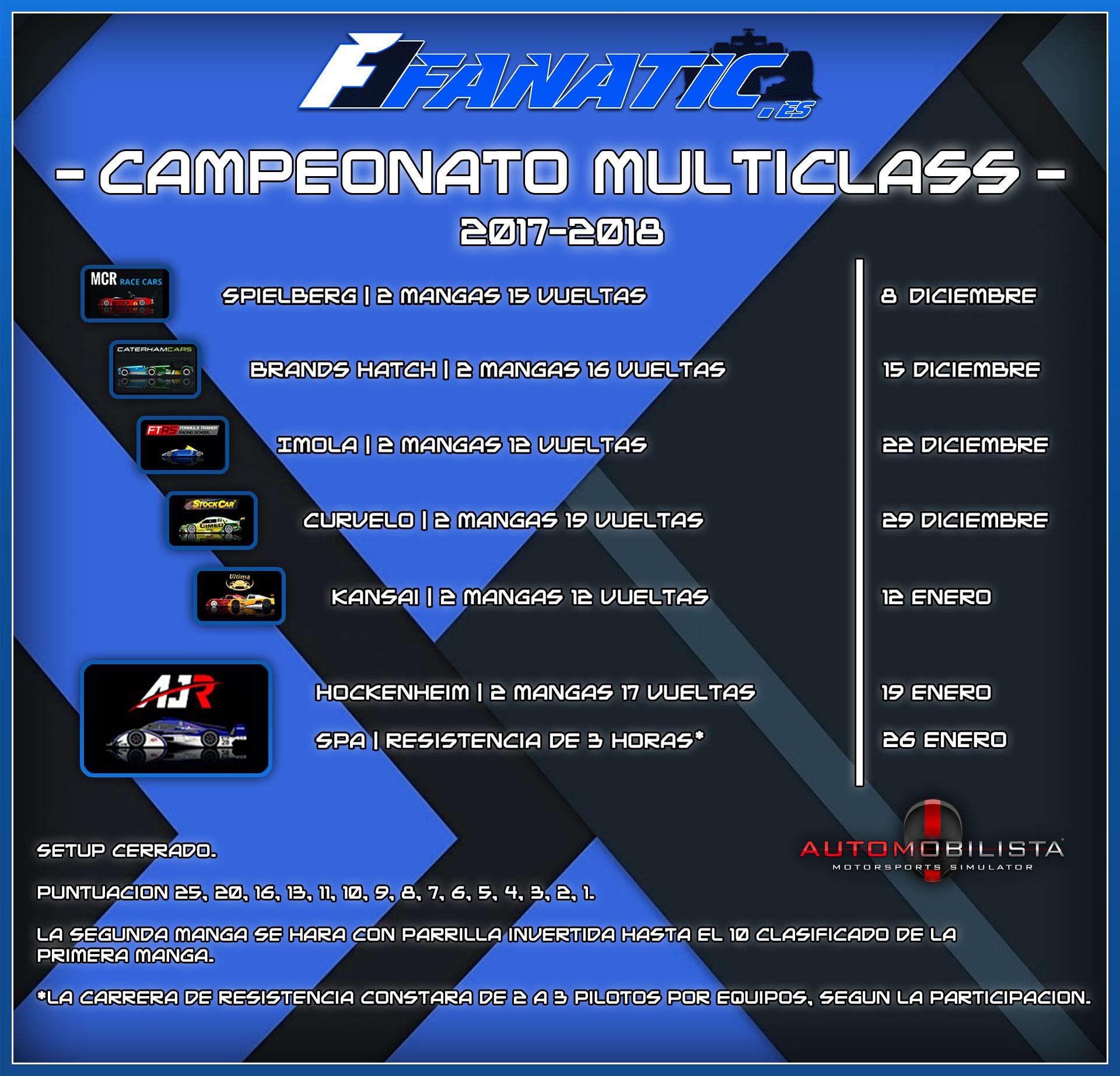 Inscripciones + Informacion Campeonato-Multiclass-17-18